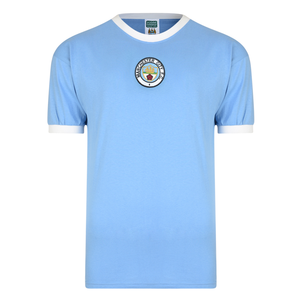 Manchester City 1972 No8 Retro Football Shirt