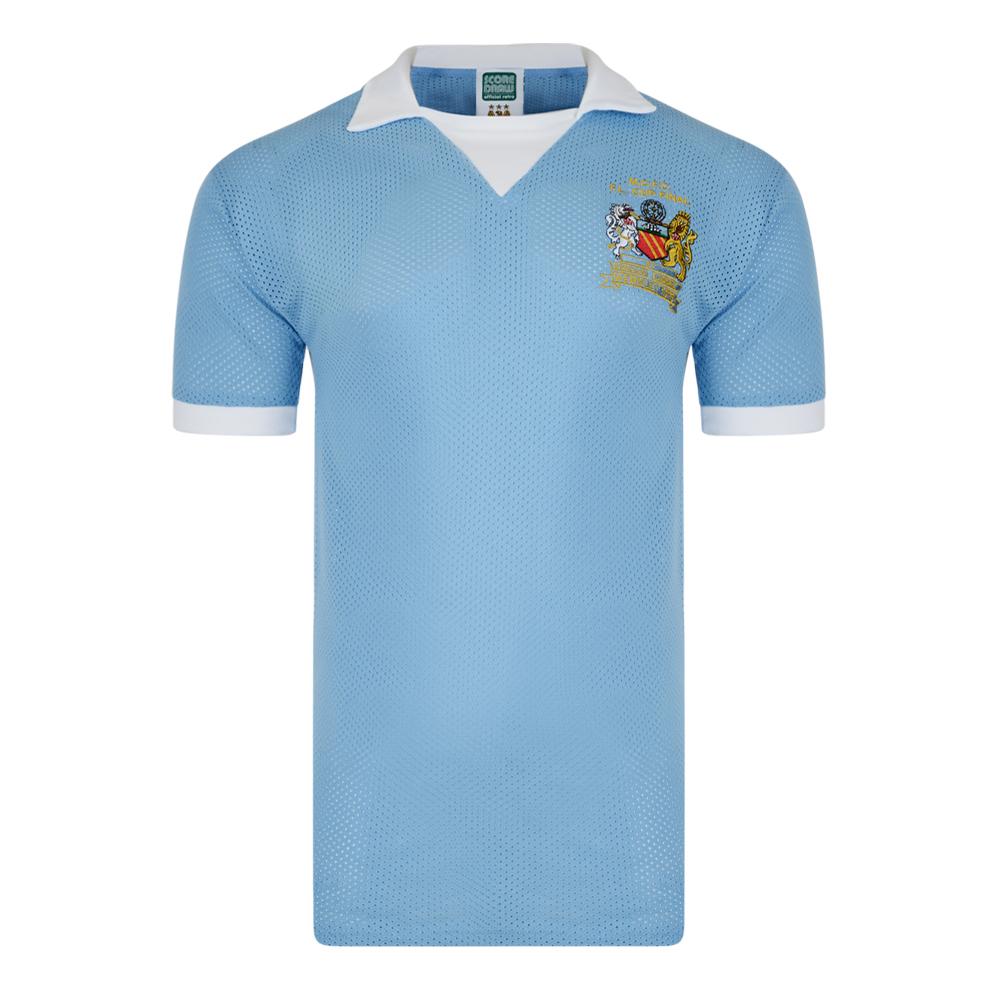 Manchester City 1976 League Cup Final Airtex Shirt