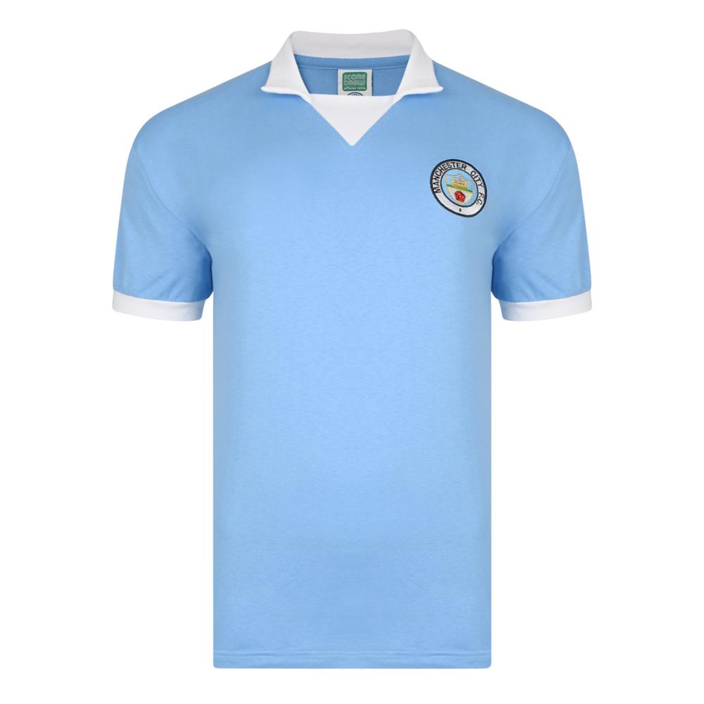 Manchester City 1976 No8 Retro Football Shirt