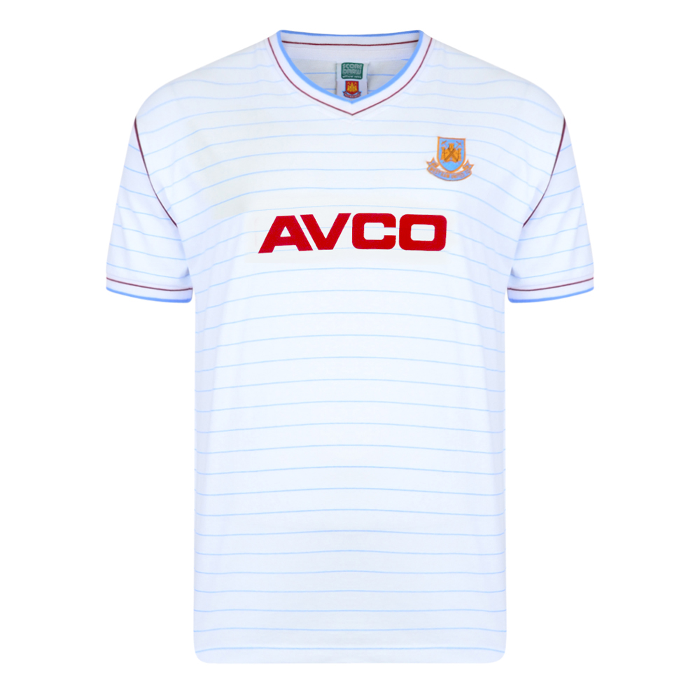 West Ham United 1986 Away Retro Football Shirt