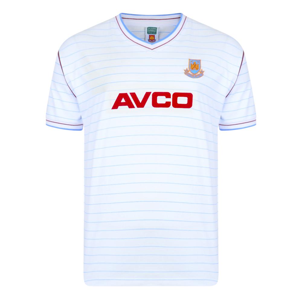 West Ham United 1986 Away Retro Football Shirt