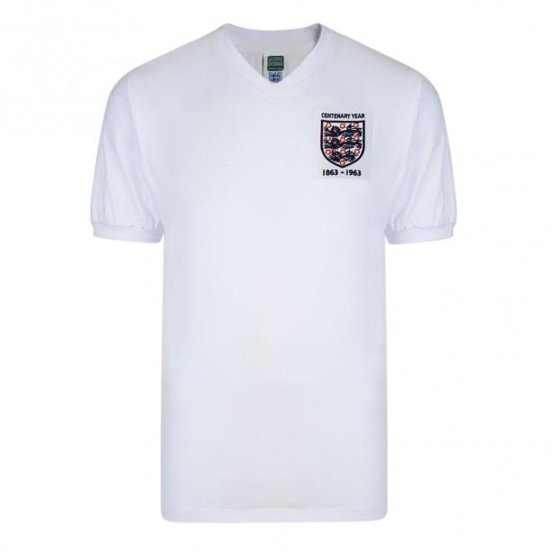 England 1963 Centenary Retro Football Shirt