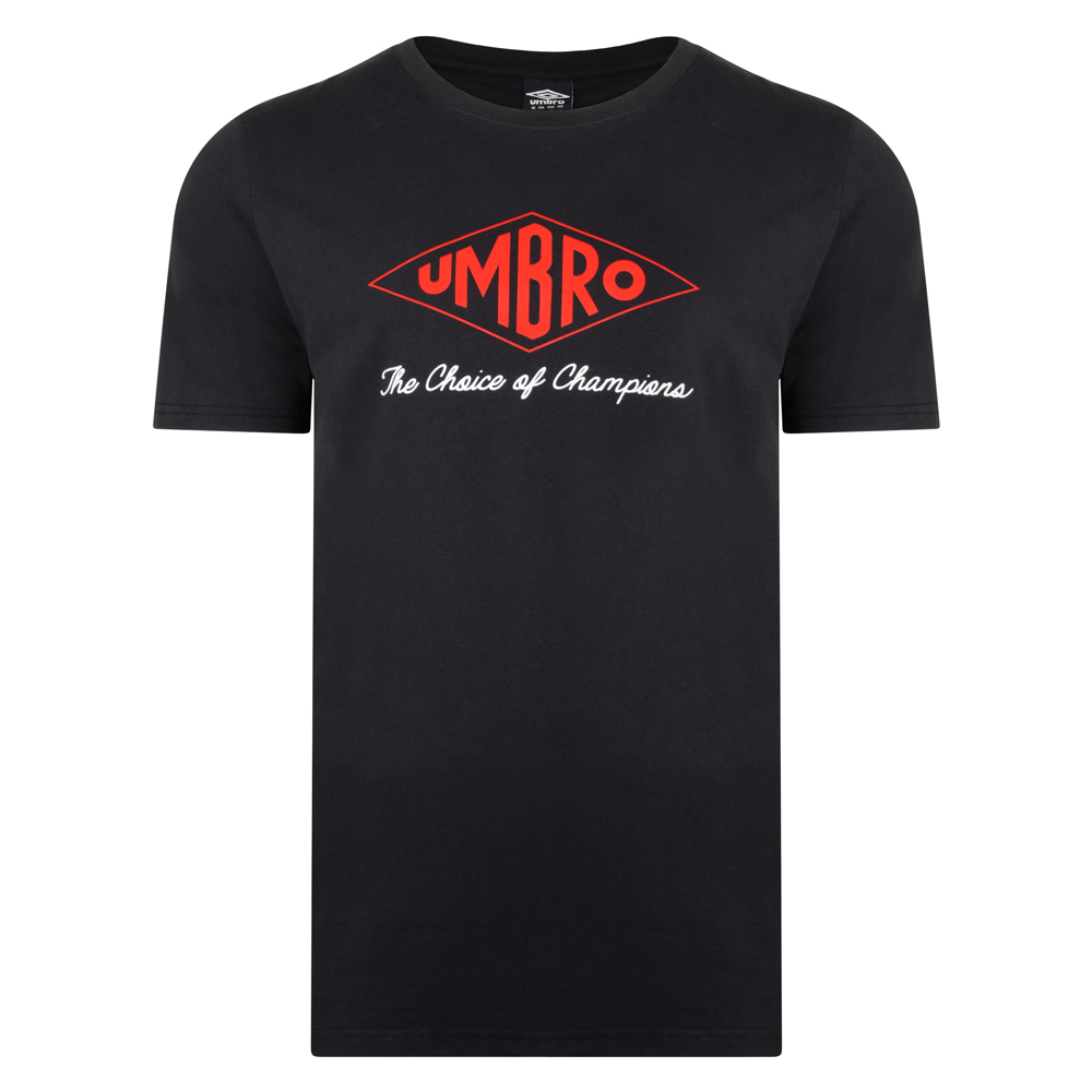 Umbro Choice of Champions Black Tee
