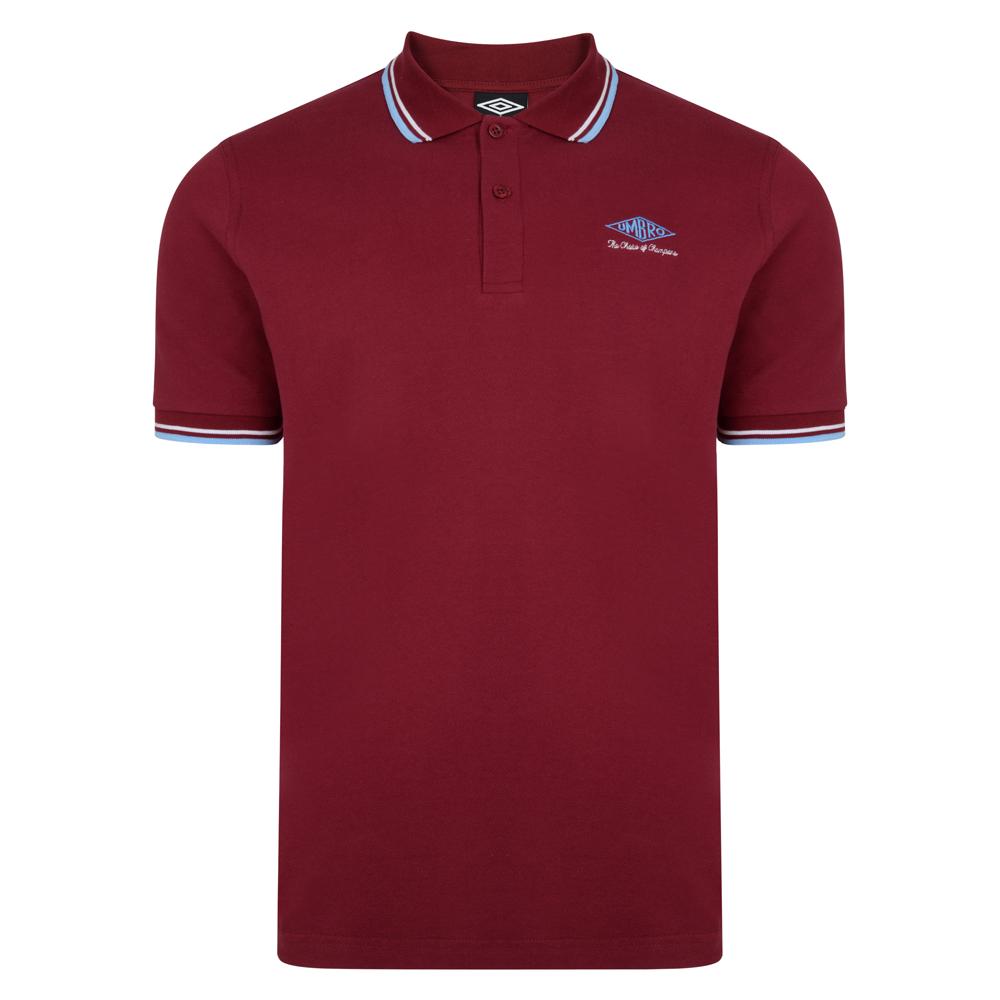 Umbro Choice of Champions Claret Polo Shirt