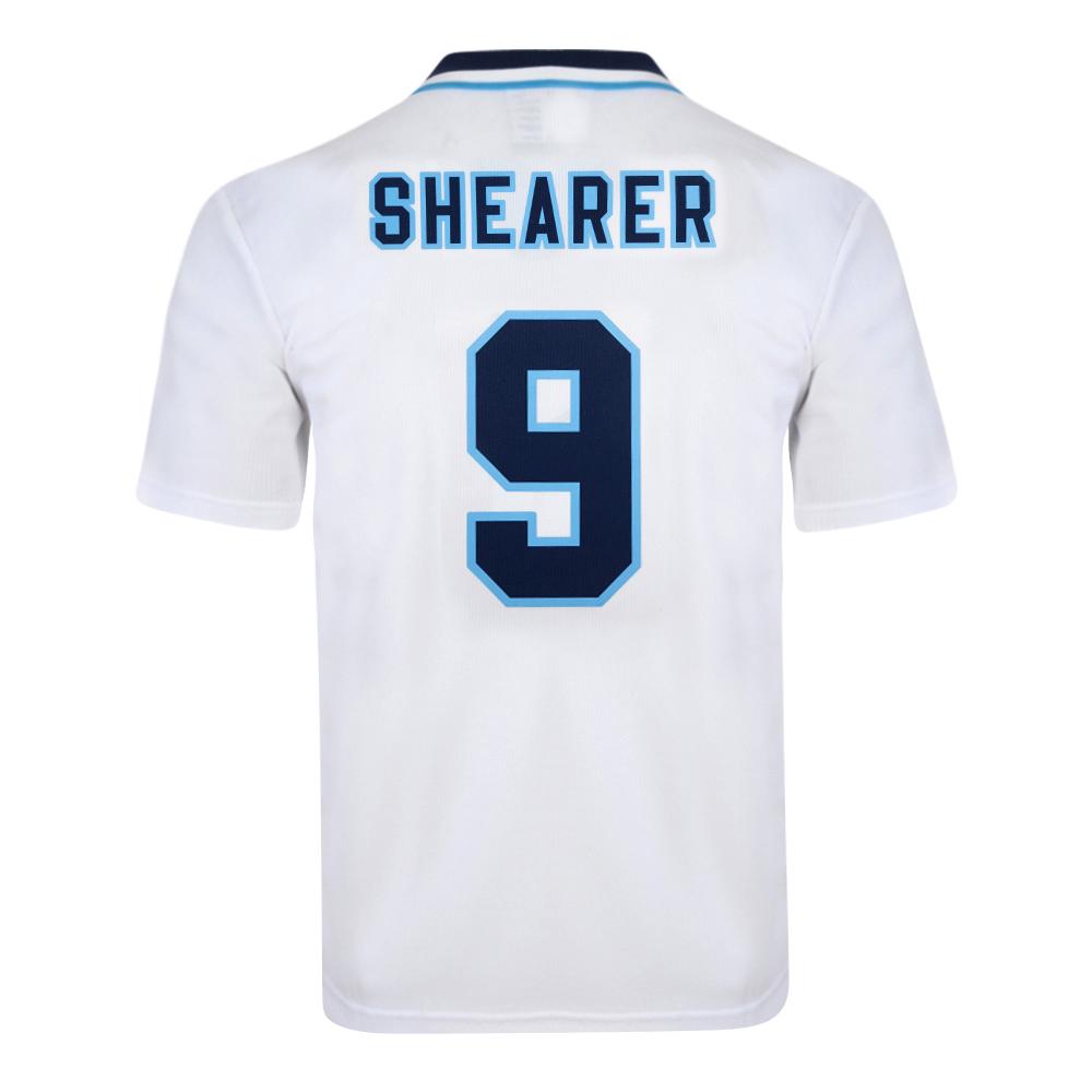 England 1996 Euro No9 Shearer Retro Shirt