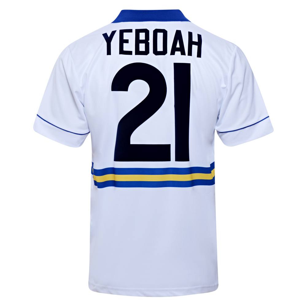 Leeds United 1994 No21 Yeboah Retro Football Shirt