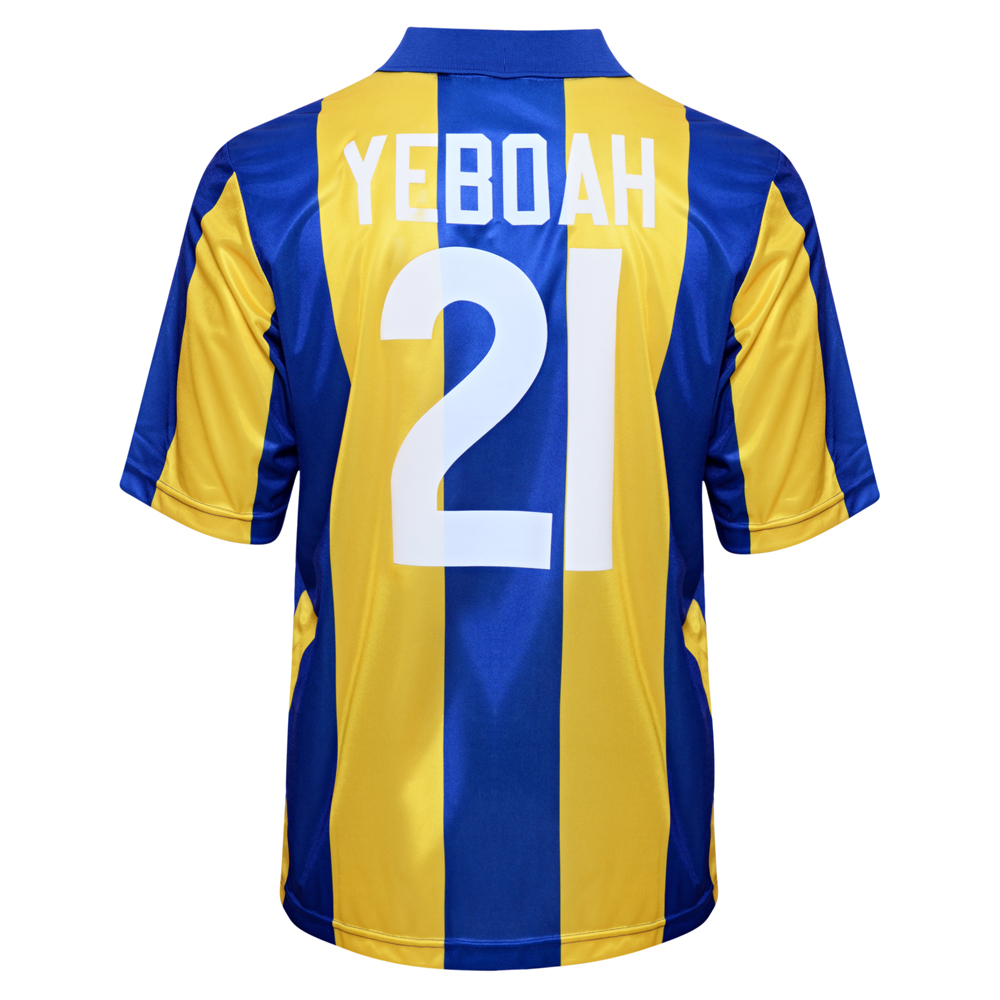 Leeds United 1994 Away No21 Yeboah Football Shirt