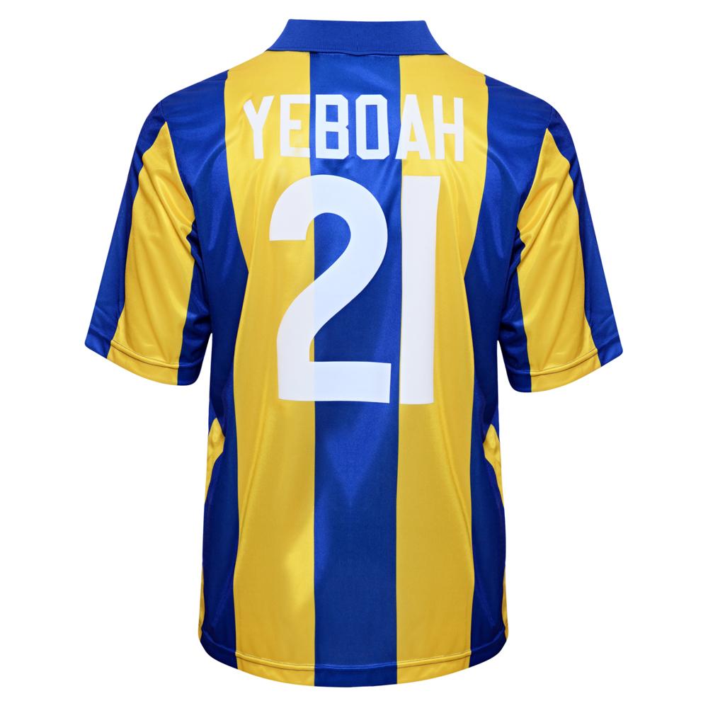 Leeds United 1994 Away No21 Yeboah Football Shirt