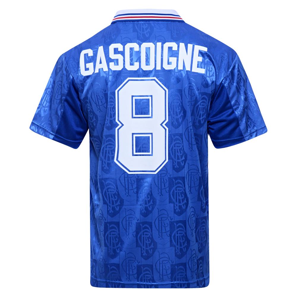 Rangers 1996 No8 Gascoigne Retro Football Shirt