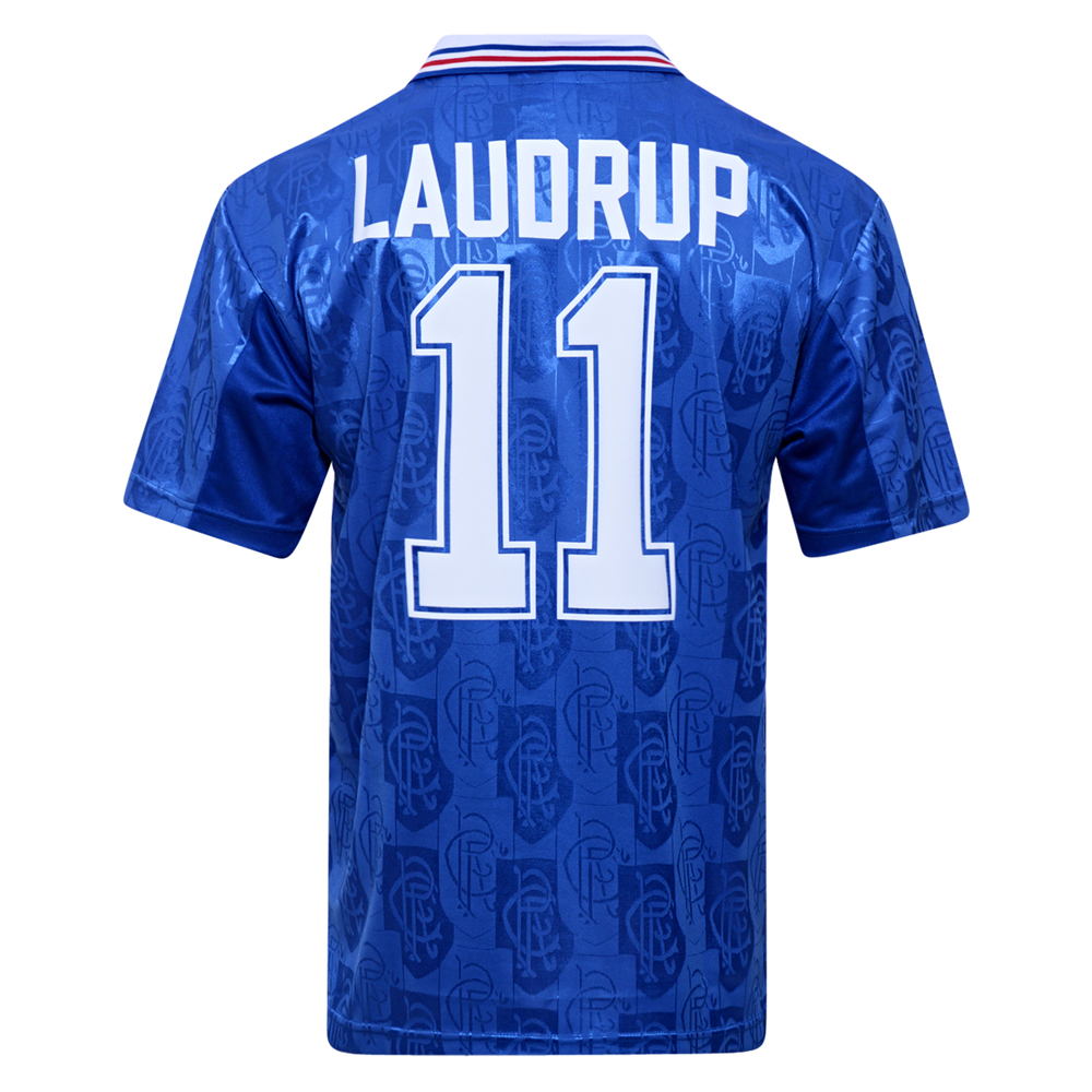 Rangers 1996 No11 Laudrup Retro Football Shirt