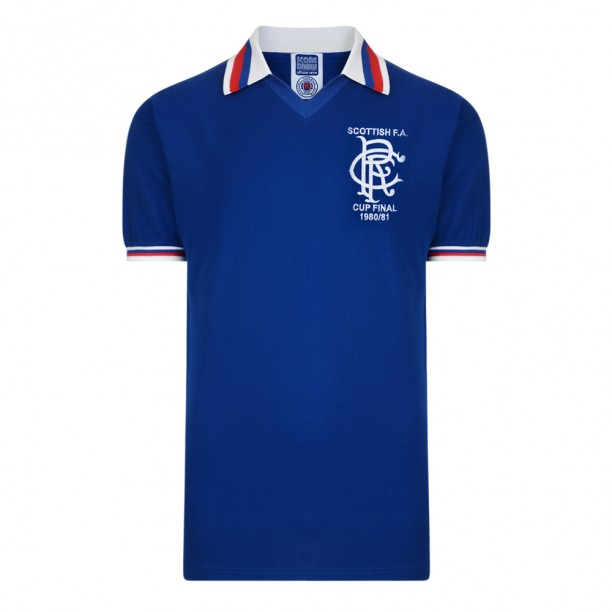 Rangers 1981 Scottish Cup Final Retro Shirt