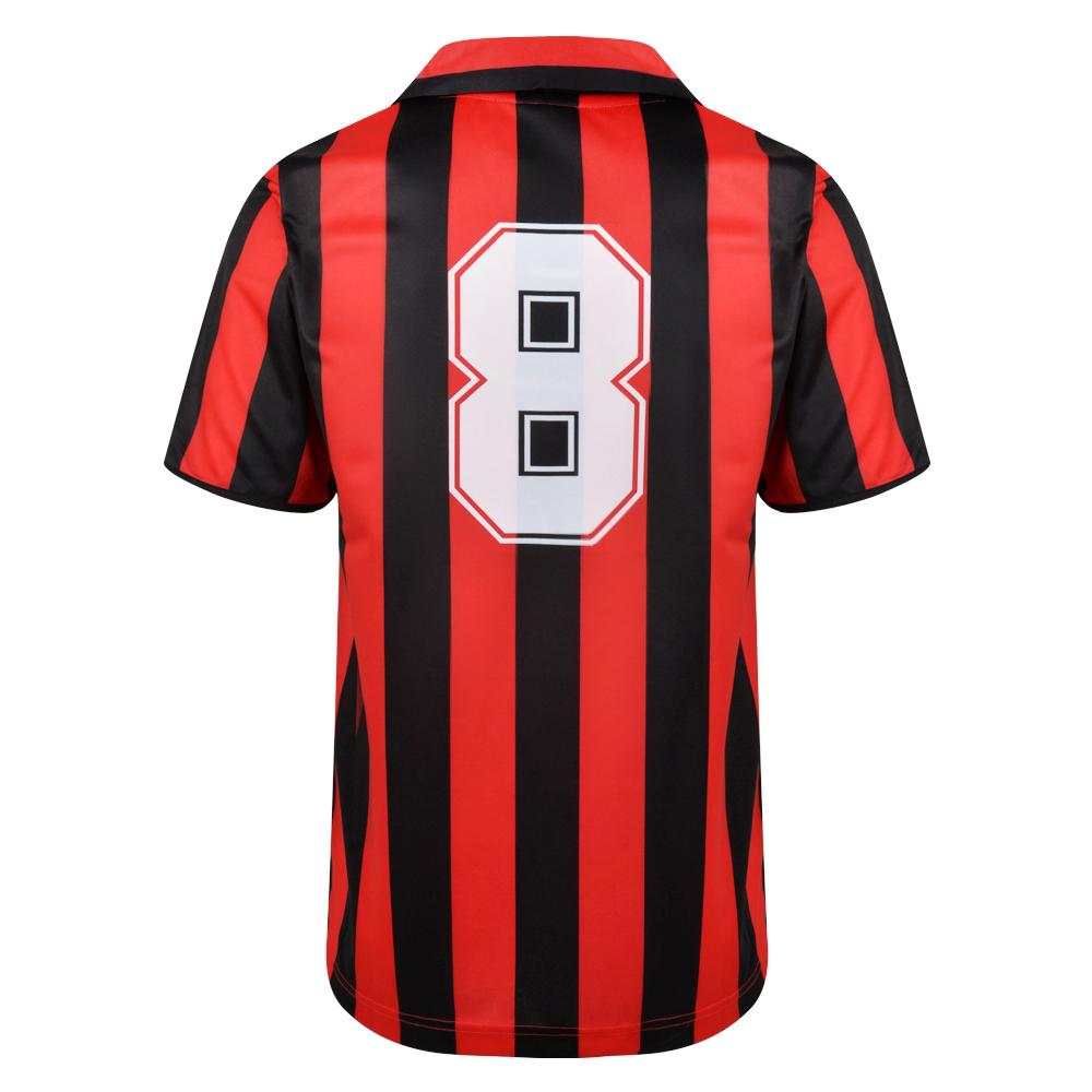 AC Milan 1988 No8 Retro Football Shirt