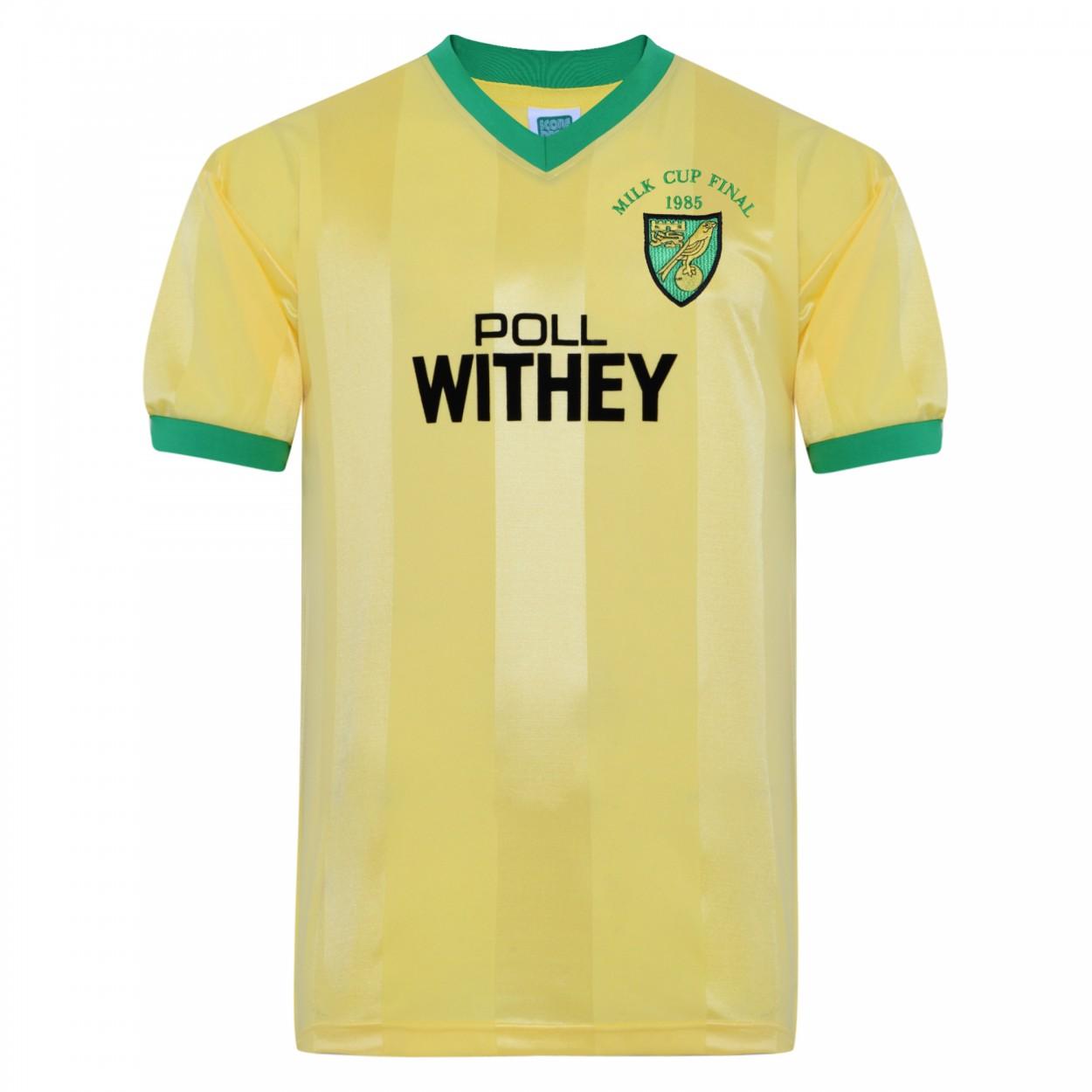 Norwich City 1985 League Cup Final shirt