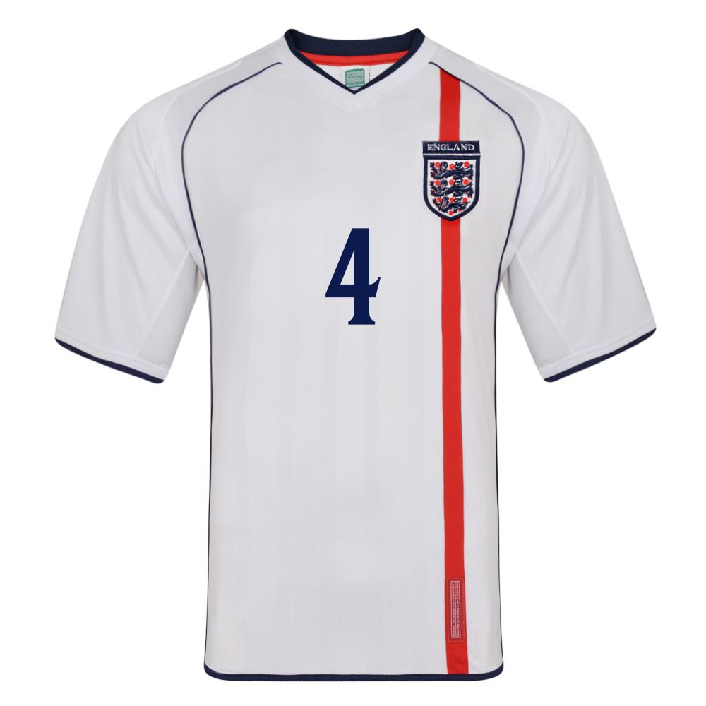 England 2002 No 4 Retro Football shirt