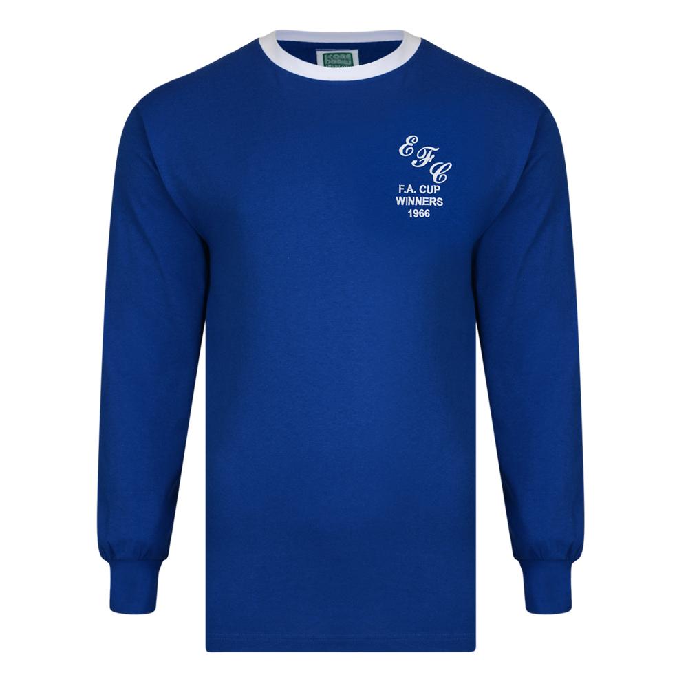 Everton 1966 FA Cup Winners Retro Football Shirt