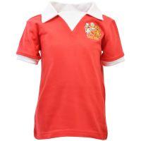 Manchester United 1970s Kids Retro Football Shirt