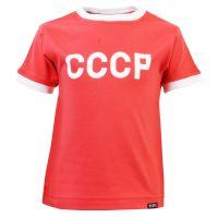 Kids Soviet Union CCCP 12th Man  T-Shirt - Red/White Ringer