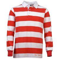TOFFS Classic Retro Red/White Stripe Long Sleeve Shirt
