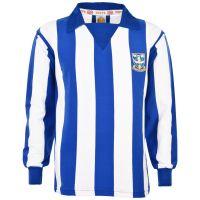 Sheffield Wednesday 1970s Kids Stripe Retro Football Shirt