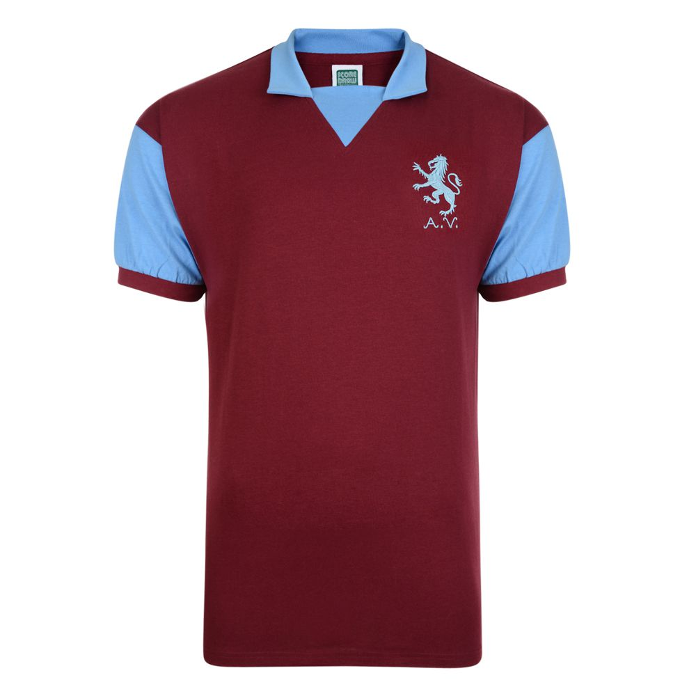 Aston Villa 1971 No8 Retro Football Shirt