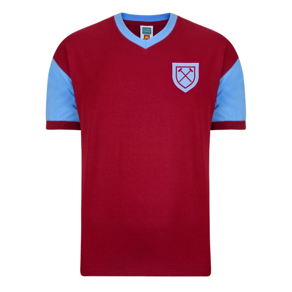 West Ham United 1958 No6 Retro Football Shirt