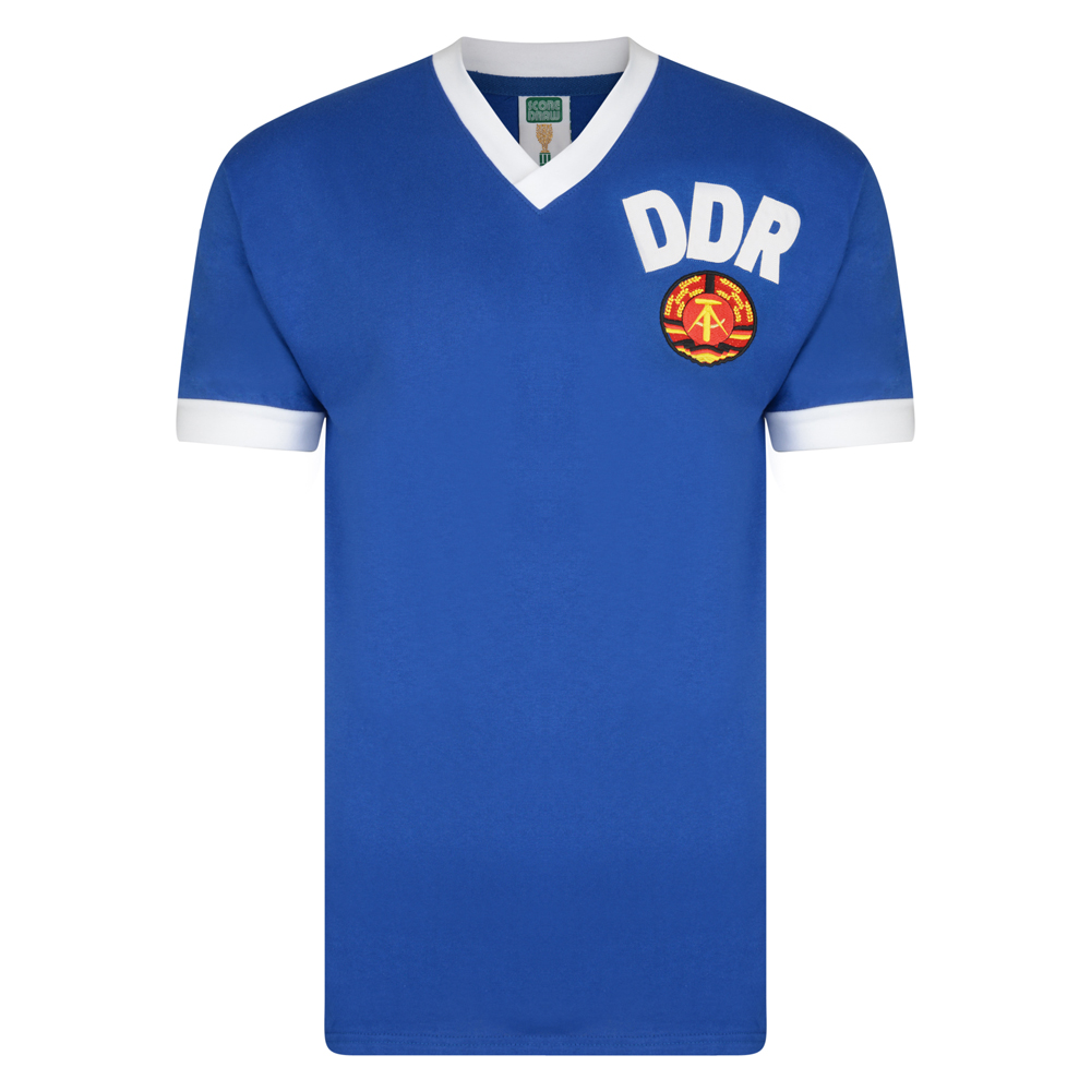 DDR 1974 World Cup Finals shirt