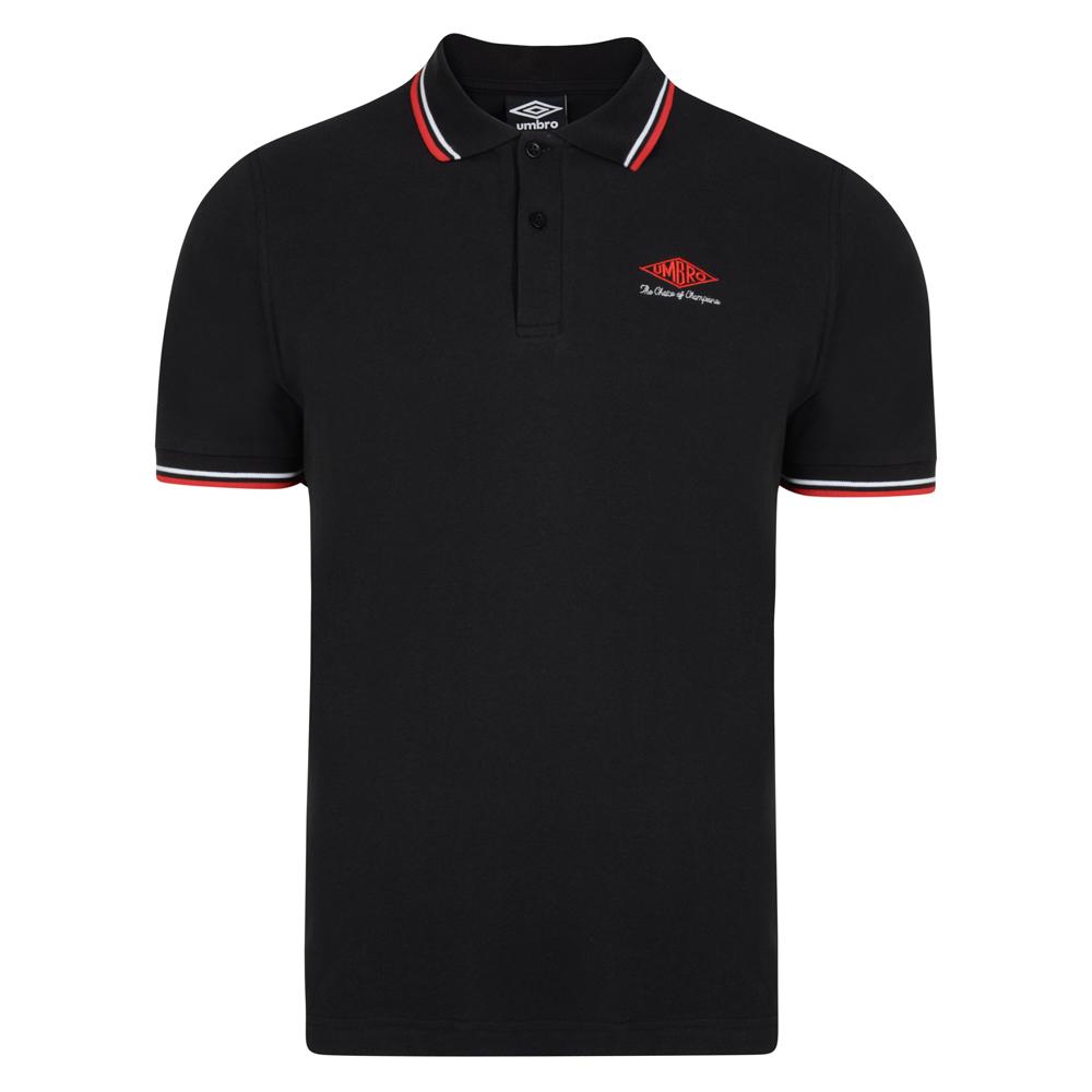Umbro Choice of Champions Black Polo Shirt