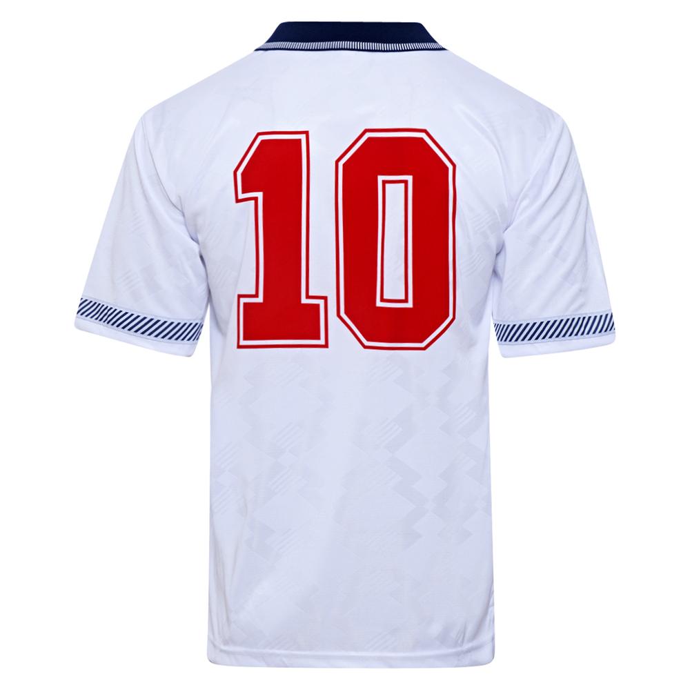 England 1990 World Cup Finals No10 Retro Shirt
