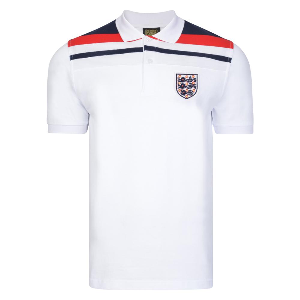 England 1982 Empire White Polo shirt