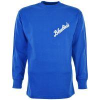 Cardiff City 1960s Bluebird Kids Retro Football Shirt
