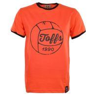 TOFFS Football T-Shirt - Orange/Black Ringer
