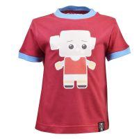 Kids West Ham Hammer Head T-Shirt - Maroon/Sky Ringer
