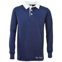 TOFFS Classic Retro Navy Long Sleeve Shirt